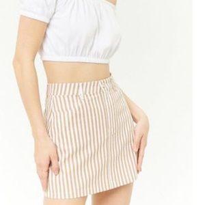 White striped mini skirt forever 21